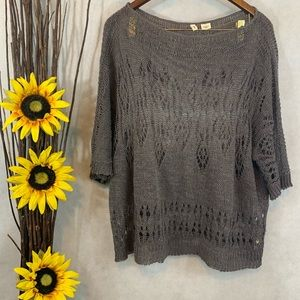 Anthropologie Moth Loose Open Cable Knit Sweater